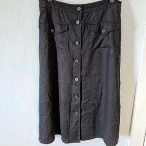 Lauren Ralph Lauren 100% Linen Size 8 Navy? Black?